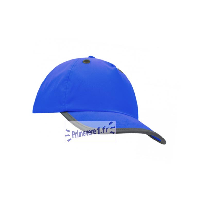 casquette bleu royal avec coque de sécurité