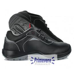 Chaussures basses de sécurité noires cuir hydrofuge