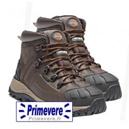 Chaussures de sécurité hautes de travail cuir marron