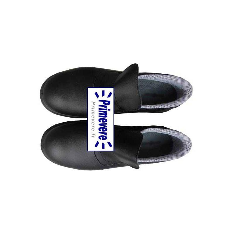 chaussures noire de sécurité pour métiers de bouche