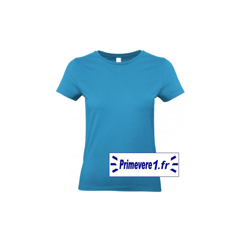 Tee shirt femme couleur Bleu Atoll