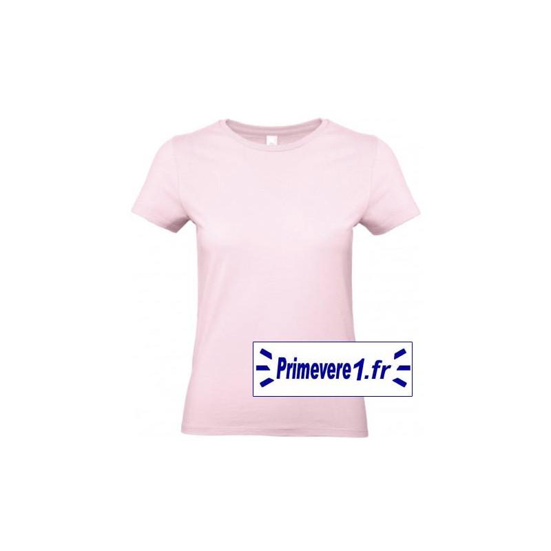 Tee shirt femme couleur Rose Pâle