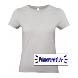 Tee shirt femme couleur Gris Clair