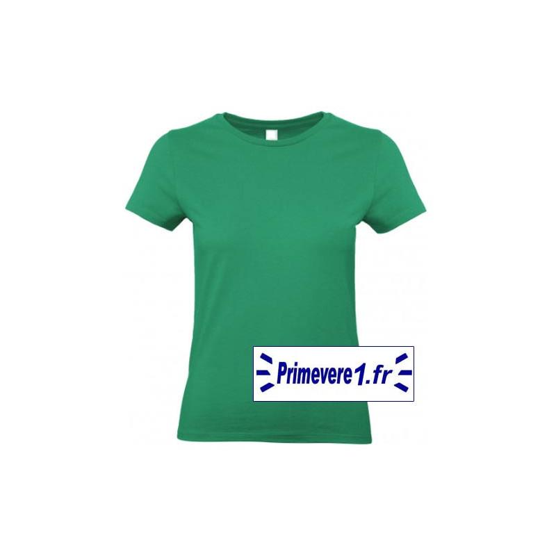 Tee shirt femme couleur Vert Pré