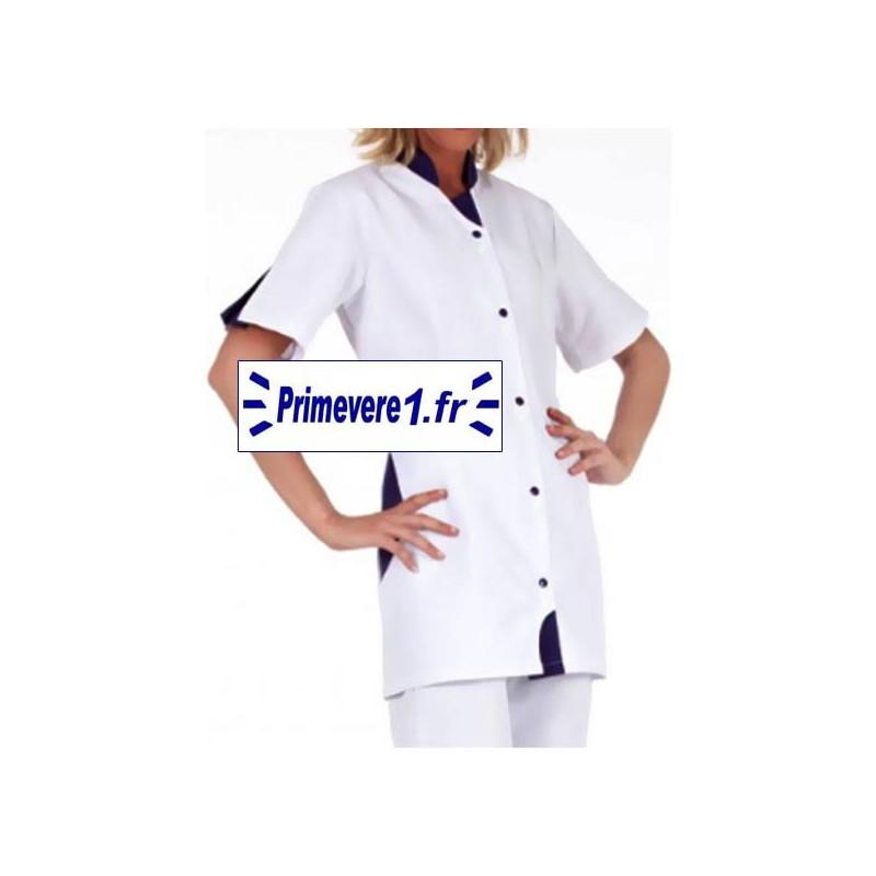 Tunique médicale Clothilde couleur blanche