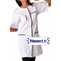 Tunique médicale femme Olivia couleur blanc