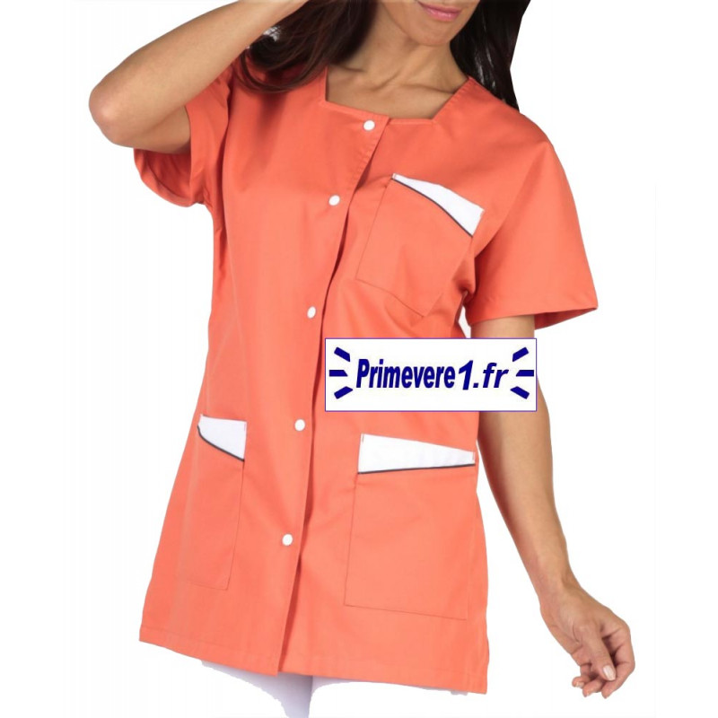 Tunique médicale femme Cali couleur abricot