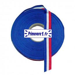 Ruban tricolore 16 mm de large, bobine de 10 mètres