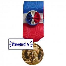 Médaille du Travail vermeil...