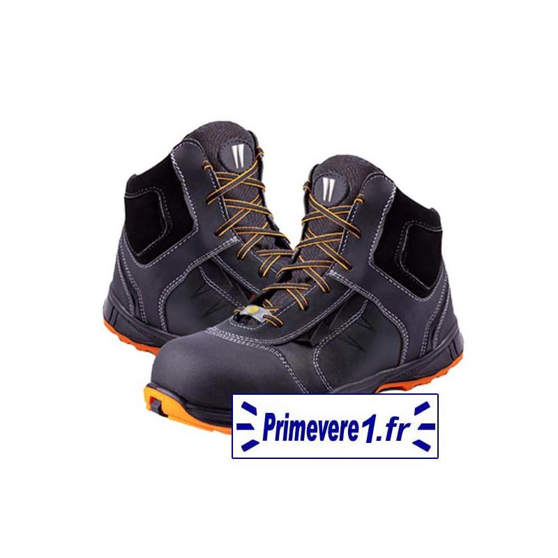 Chaussures de sécurité hautes S3 cuir noire