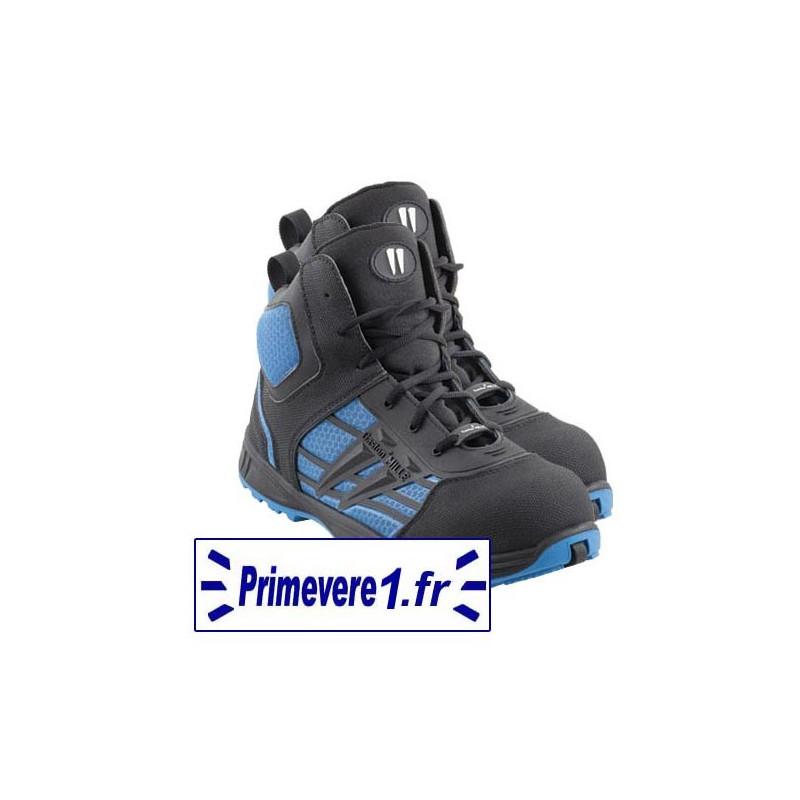 Chaussures de sécurité hautes S3 couleur bleue et noire