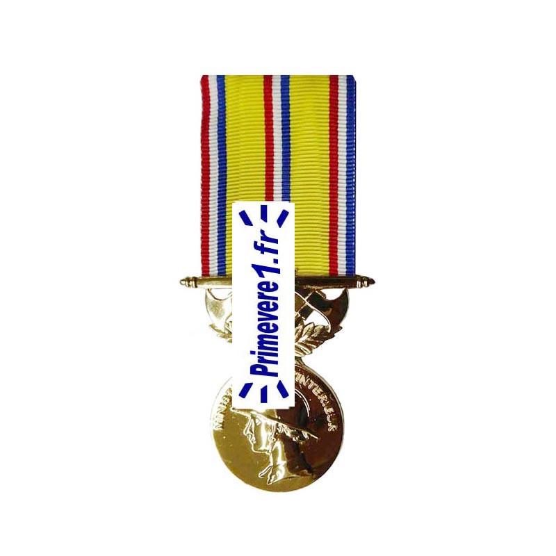 Médaille Vermeil Sapeurs-pompiers 30 ans d'ancienneté