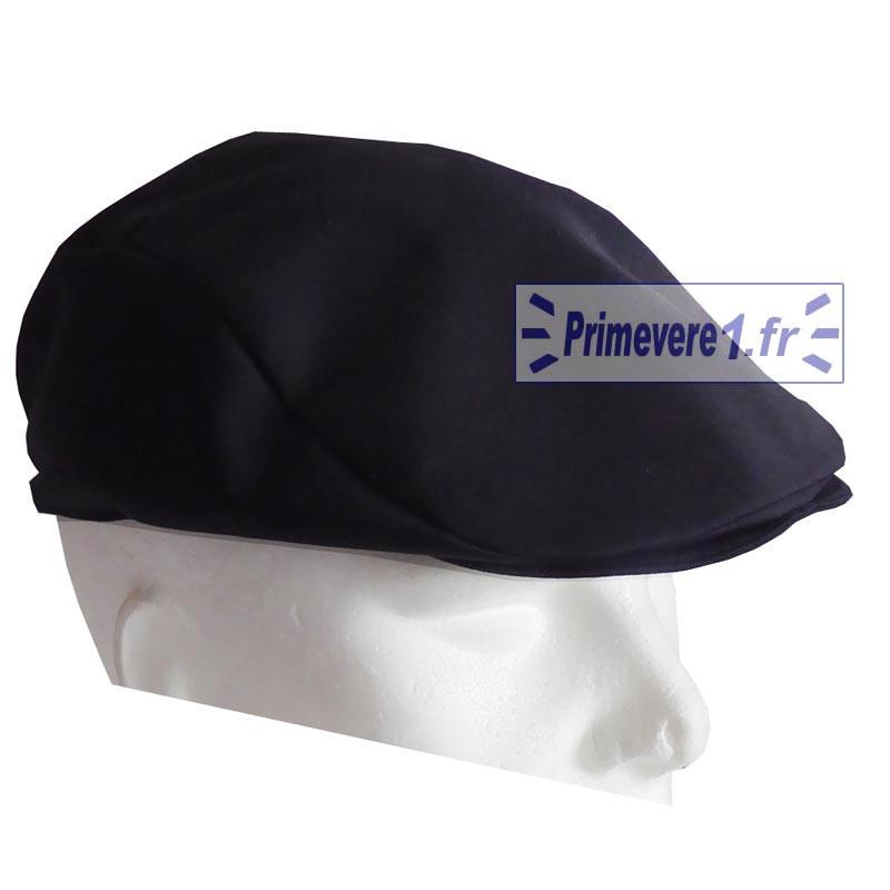 Casquette noire métiers de bouche - casquette plate