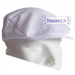 Casquette blanche métiers de bouche - casquette plate