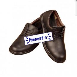 Chaussures de sécurité noire pour cuisinier - avec lacets