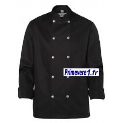 Veste noire pour cuisinier...