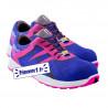 Chaussures de sécurité S3 de couleur bleue et rose - femme