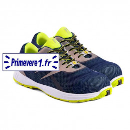 Chaussures de sécurité S3 de couleur bleue et jaune