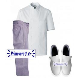 Lot de vêtements et chaussures pour cuisinier et boulanger