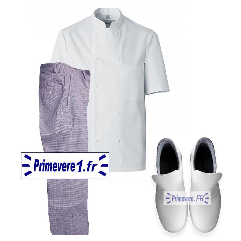 Lot de vêtements et chaussures pour cuisinier