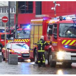 image sapeurs-pompiers en intervention à Mulhouse