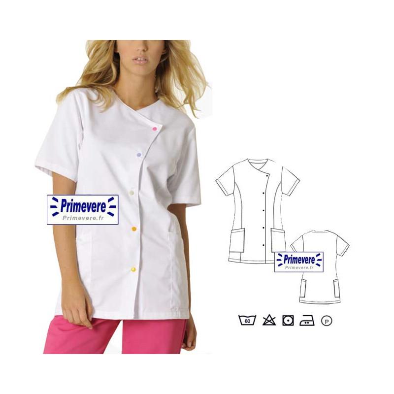Tunique médicale Femme Justine couleur Blanche