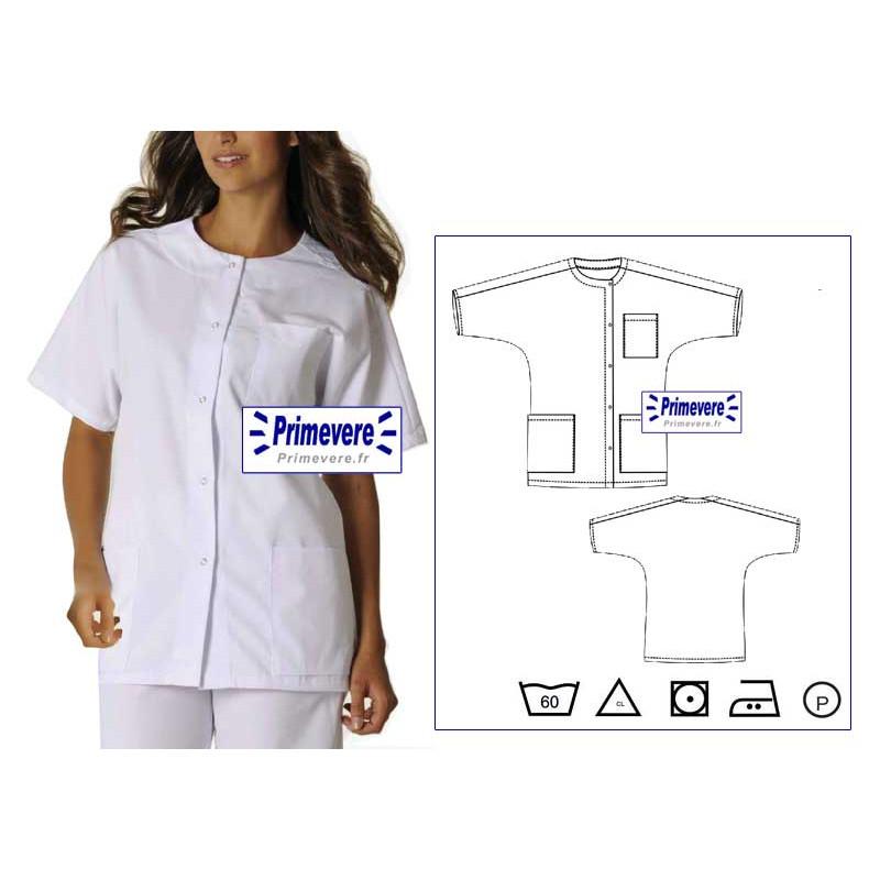 Tunique médicale Femme Kelly couleur couleur Blanche