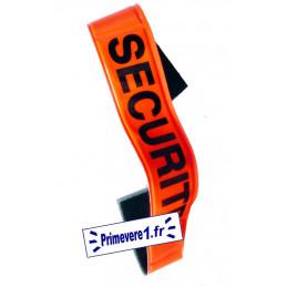 Brassard fluo orange marqué SECURITE