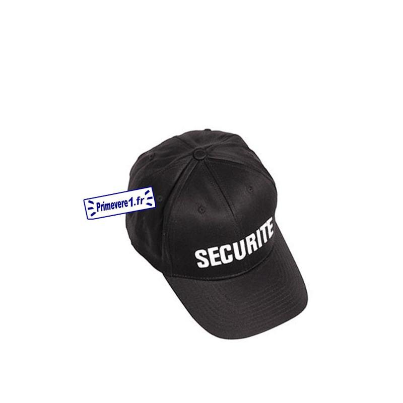 Casquette noir brodée SECURITE en blanc