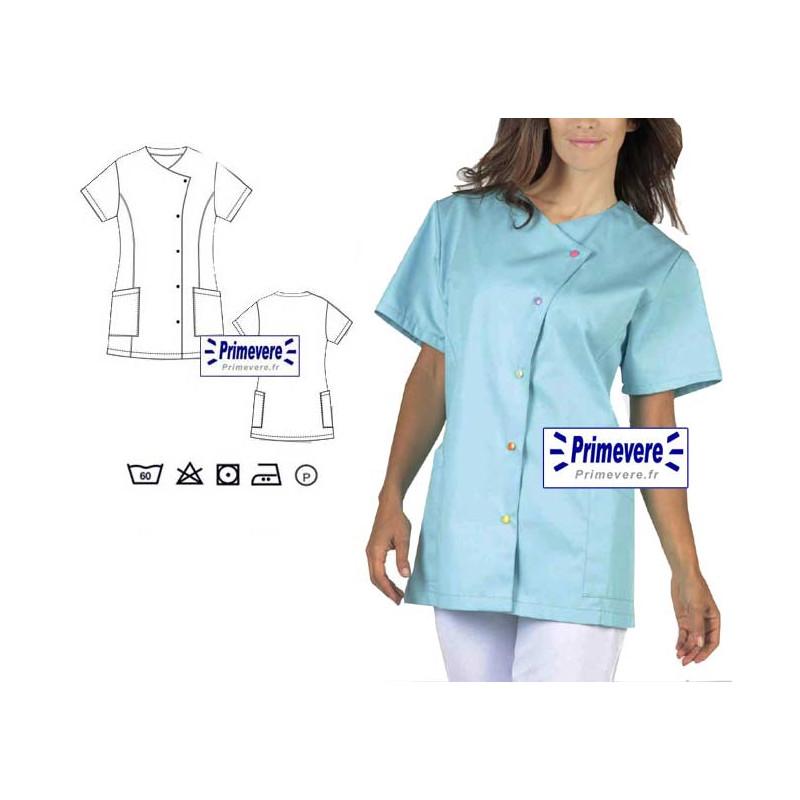 Tunique médicale Femme Justine couleur Turquoise