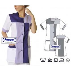 Tunique médicale Femme Perrine couleur Purple et Lilas