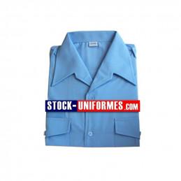 Chemise ciel manches Courtes d'uniforme
