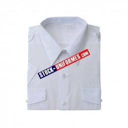 Chemise blanches manches courtes d'uniforme