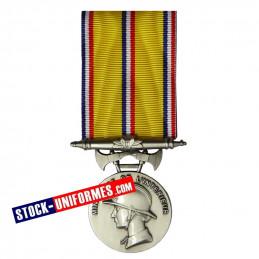 Médaille Argent Sapeurs-pompiers 20 ans d'ancienneté