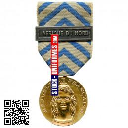 Médaille Ordonnance Reconnaissance de la Nation avec agrafe AFRIQUE DU NORD