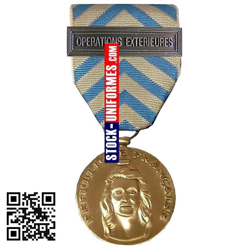 Médaille Ordonnance Reconnaissance de la Nation agrafe OPERATIONS EXTERIEURES