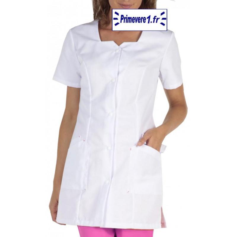 Tunique médicale Femme Clémence couleur Blanche