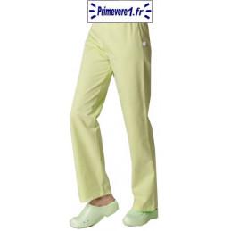 Pantalon professionnel couleur vert anis