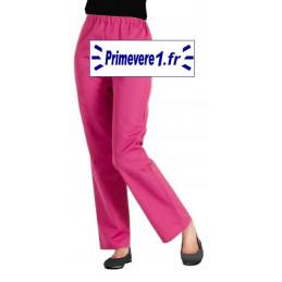Pantalon professionnel framboise