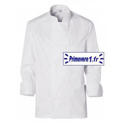 Veste blanche manches longues pour cuisinier