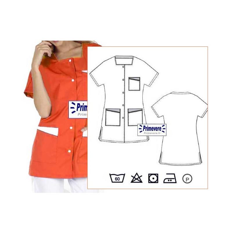 tunique médicale couleur abricot
