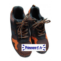 Baskets de sécurité orange et noires