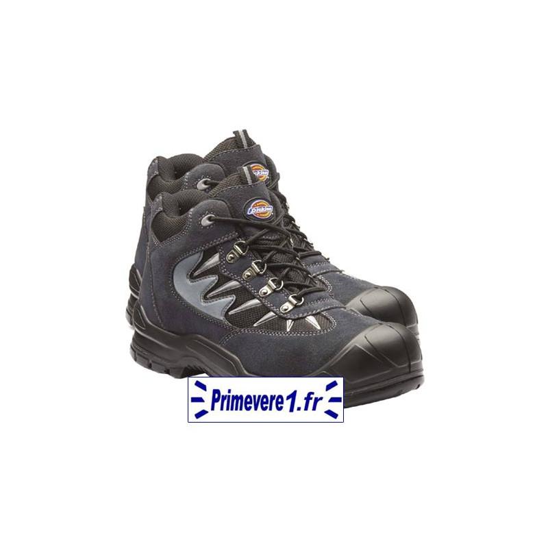 Chaussures de sécurité mi-hautes cuir gris
