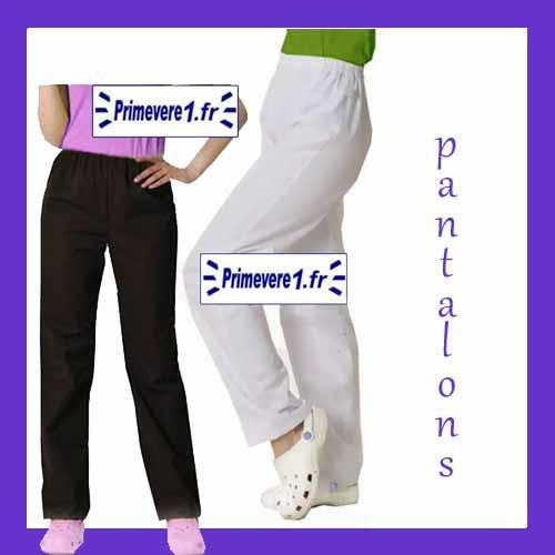 Pantalon professionnel blanc et couleur