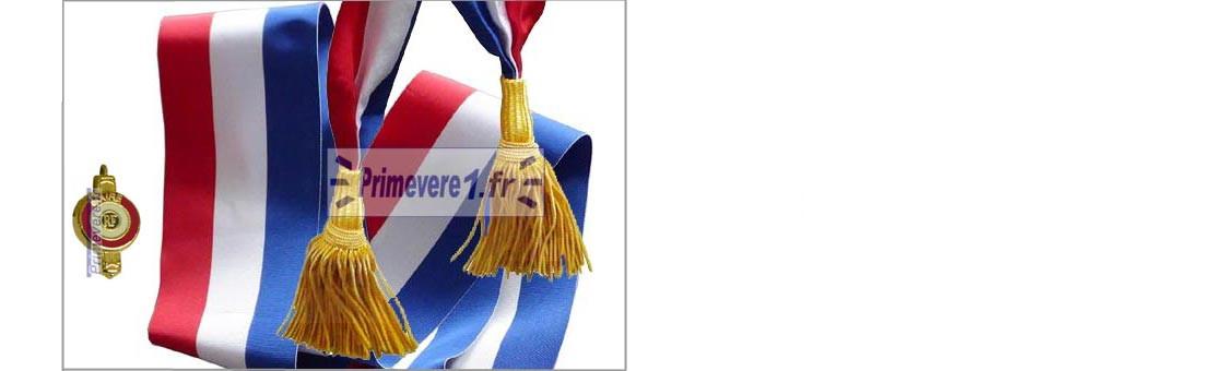 Echarpe et insigne pour Maire et conseiller Municipal